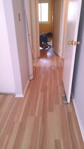 Flooring installations laminate and vinyl plank 95 cents sqft