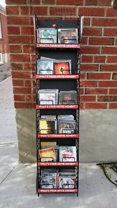 CDs with CD rack for 10$