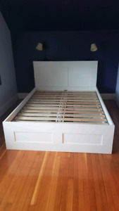 Brines Bed frame with storage and headboard