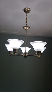 Light fixture set, brushed nickel