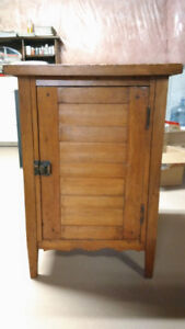 Small antique pine cupboard