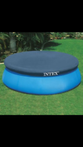 12ft round intex easy set pool cover