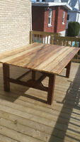 ANTIQUE IMMENSE TABLE DE PATIO EN BOIS GIGANTESQUE