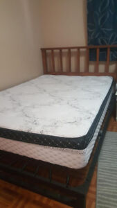 Double bed frame and mattress or can sell separately $150 OBO