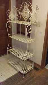 Beautiful heavy iron Victorian Plant Stand / Baker's Rack