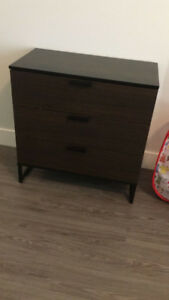 queens bed frame. two night table.  dresser.