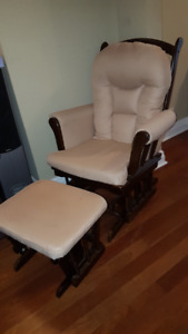 Padded Rocking Chair/Glider and Ottoman