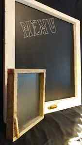 Chalkboard with Barn Board Frame Kingston Kingston Area image 2