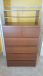 Ikea dresser with extra top shelf