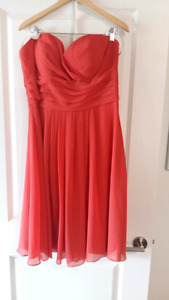Coral strapless