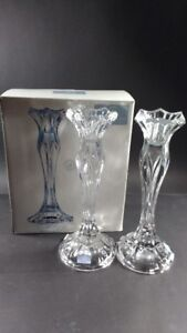Celebrations Blossom Crystal Candleholders set of 2 - 8.75 ""