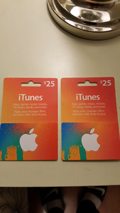 $50 gift iTunes Gift Cards