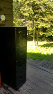 Classeur filière noir en métal