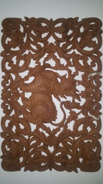Intricate woodcarving decoration