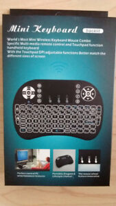 Backlit Wireless Mini Keyboard Air Mouse Combo - Lithium Baterry