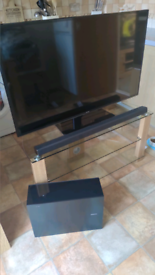 "Samsung 48"" UHD LED Smart TV with Soundbar and Subwoofer"
