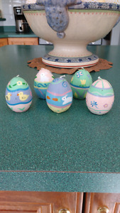 Set of Five Easter Egg Candles