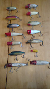 Old wooden lures