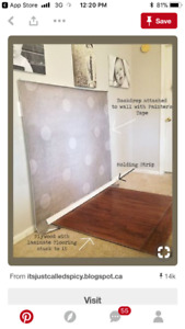 ISO flooring scraps for photography props