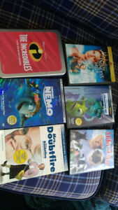 8 Children's DVDs (Monsters Inc., The Incredibles, Shrek, etc.)