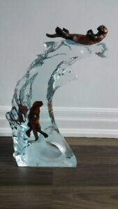 """Otters Sculpture-""""Harmony"""" by Kitty Cantrell"""