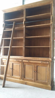 NEW PROVINCIAL LIBRARY BOOKCASE SHELF KITCHEN DISPLAY & LADDER Chipping Norton Liverpool Area Preview