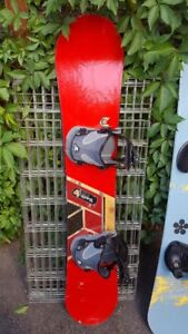 Snowboards bindings and boots