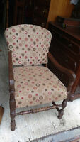 Antique Accent Chair With Details
