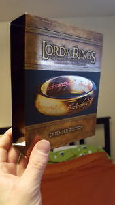 Lord of the Rings and The Hobbit Extended Edition on Blu Ray