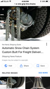 Automatic tire chain heads