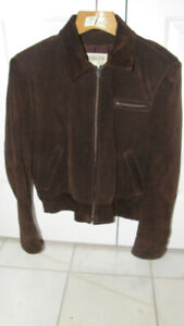 MEN'S SUEDE SPRING/FALL JACKET - SIZE 42 (LARGE)