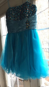 Turquoise Graduation Dress
