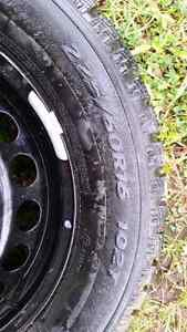225/60R16 studded winter tires and rims Prince George British Columbia image 3