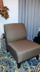2 Brian Gluckstein accent chairs