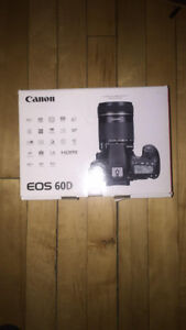 canon 60D complete kit 18-55mm and 55-250mm+ camera bag