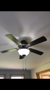 2 ceiling lights and fans