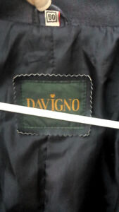 Black Davigno Genuine Italian Leather jacket - Trench $100 OBO