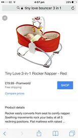 Tiny love 3in1 baby bouncer and sleeper
