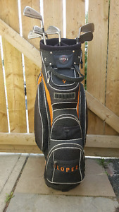 Women's golf bag with Taylormade irons