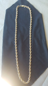 10k gold rope chain 17 inches long-stamped