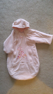 Pink sleeper/baby outerwear