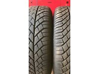 2 x 195/65/15 Continental winter tyres