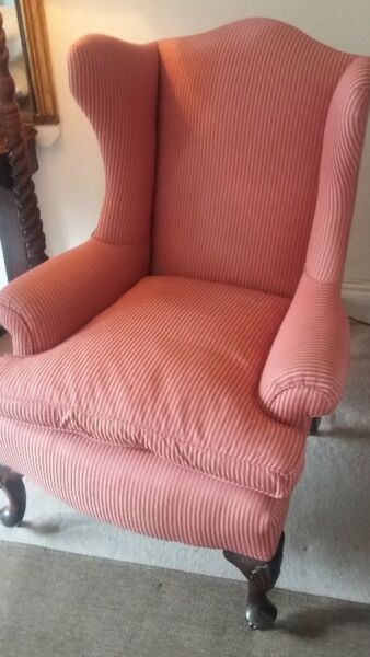 Early Victorian Wingback Armchair