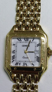 Man's Watch / Montre pur Homme, 14k Gold, GENEVE, Brand New