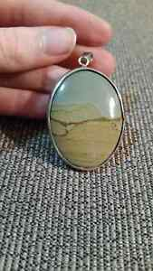 Stone and Silver Pendant Peterborough Peterborough Area image 1
