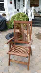 Cedar collapsible 3 position chair