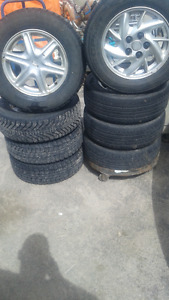alluminum rims with tires in great condition!!!