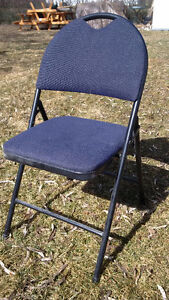 Folding Blue Padded Chairs.