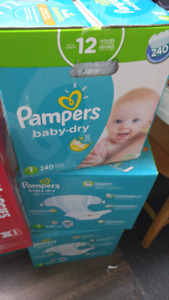 3 boxes of size 1 diapers - Papers baby dry