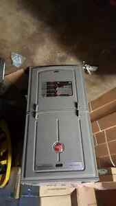 New, never installed RHEEM 2 stage furnace.